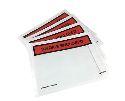 "4.5"" x 6"" Packing List Envelope Invoice Enclosed Adhesive Sleeve - Case of 1000"