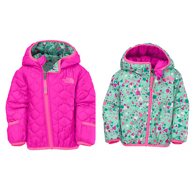 The North Face Infant Baby Girl Perrito Luminous Pink Reversible Jacket 12M New