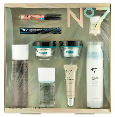 Boots No 7 Gift Set Protect and Perfect Beautiful Skin Toner Day Night Cream