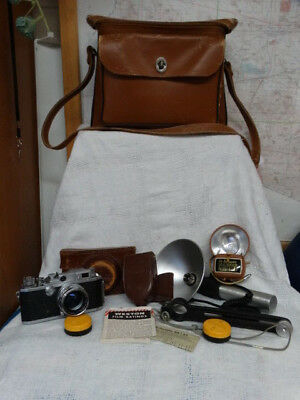 Canon 11F Rangefinder Camera 50mm lens with Camera Bag and Accessories
