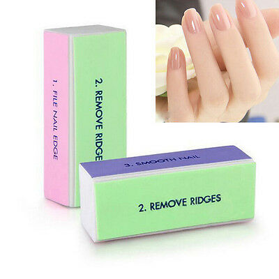 2/5/10Pcs Nail Art Manicure 4 Way Shiner Buffer Buffing Block Sanding Files RT
