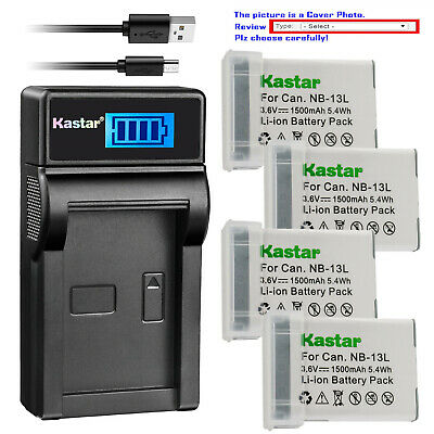 Kastar Battery LCD USB Charger for Canon NB-13L CB-2LH Canon PowerShot SX730 HS