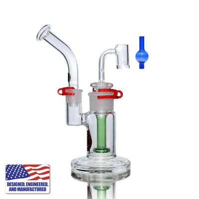 Glass and Nail Rig - Portable Kit Bubbler with Quartz E-Banger + Free Carb Cap
