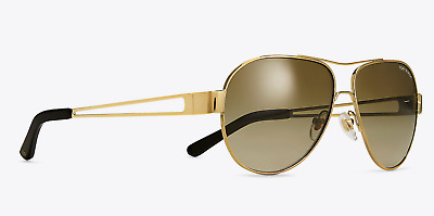 30cd0e1215 Tory Burch TY 6060 304113 Sunglasses Gold Frame Smoke Gradient Lenses 55mm