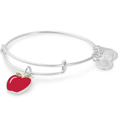 ALEX AND ANI Apple Charm Bangle ~ Blessings In A Backpack ~ A-17