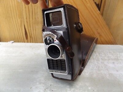 G.B. BELL & HOWELL 624 EE 8mm Cine Camera & Leather Case Cira 1950s