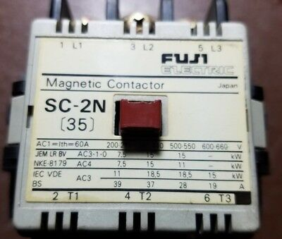 Fuji Electric Magnetic Contactor SC-2N (35) Used tested, works