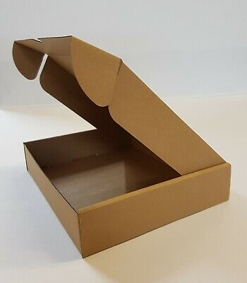 Cardboard Lidded Box Postage Postal PackagingMail Small Parcel Gift 236x196x47mm