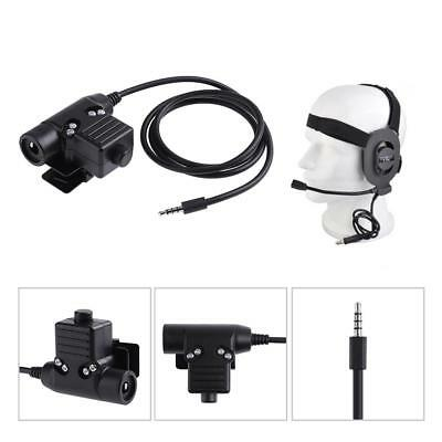 New U94 Headset  PTT Cable Military Adapter Z113 for Mobile Phone 3.5mm Plug