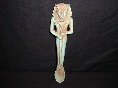 Rare Antique Ancient Egyptian Funeral Spoon Holded King Tutankhamun 1332-1323 BC