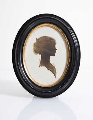 American 1800s Silhouette portrait of a Child, Girl. Frame LYCETT Baltimore, MD.