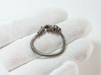 Ancient Celtic Silver Ring Wearable c619