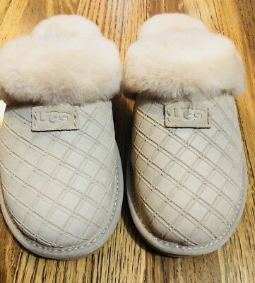 ba181209222 NEW. UGG Cozy Double Diamond Freshwater Pearl Color Women's Slippers Size  12 Us