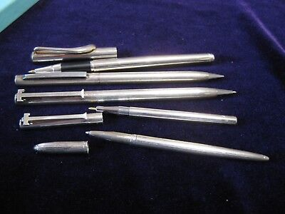 Lot of 5 Vintage Rare Tiffany & Co Pens and Pencils Sterling silver 1 W.Germany