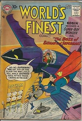 World's Finest Comics #93 DC 1958 Silver Age Comic Book VG Superman & Batman