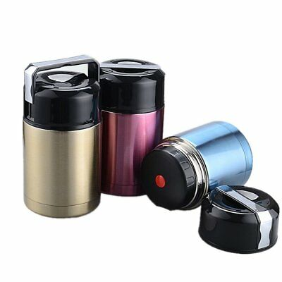 Vacuum Insulated Lunch Box Stainless Steel Jar Hot Cold Thermos Food Container
