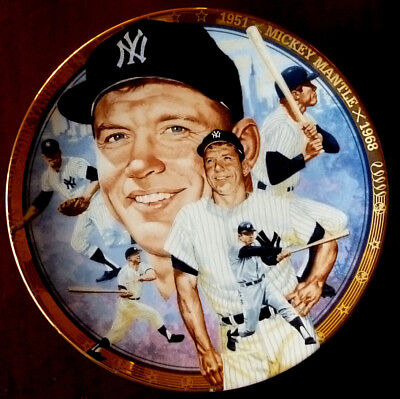 """Mickey Mantle Collector's Plate """"The Legendary Mickey Mantle"""""""