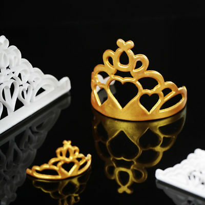 2Pcs FMM Cutter Crown Tiara Fondant Icing Cutting Tool For Cake Decoration Mould