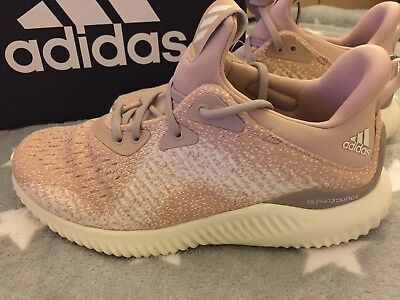 8c1a2fbf0e6b ADIDAS WOMEN S ALPHABOUNCE 1 Ash Pearl Chalk Coral Grey One Running ...