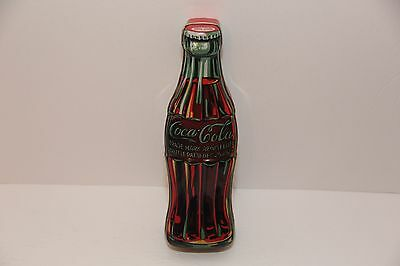 "2003, Coca Cola Bottle Shaped Tin. 9 1/2 "" High"