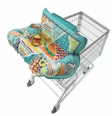 New Infantino Compact Cart Cover Teal w/Bonus Sippy Cup Strap opened-  Fast Ship