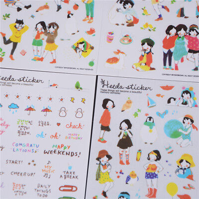 6 Sheet/set Kawaii Planner Stickers For Notebook Paper Decoration Stylish WH