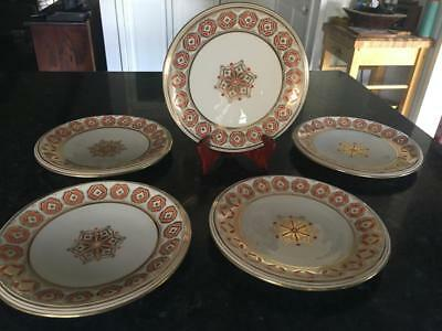 1805 - 1820 Antique DAVENPORT/LONGPORT#1550 /DINNER PLATES (5)  - QUALITY