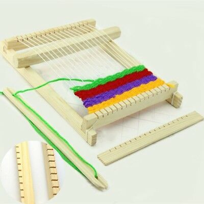 Weaving Loom Kids Toy Wooden Craft Traditional Hand Pretend Play Knitting CB Hot