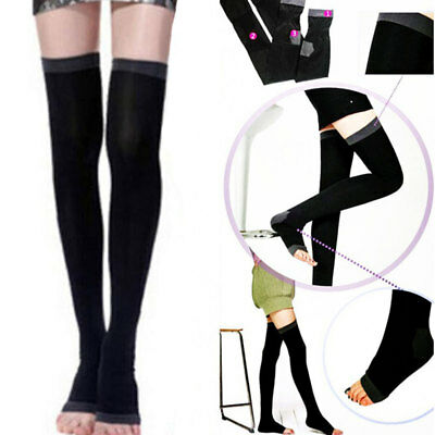 Elastic Compression Fat Over Knee Stockings Four Color 1 Pair Beauty
