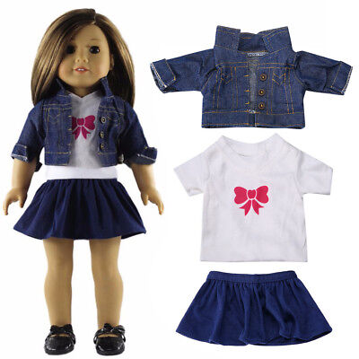 Outfit Dress Jeans Clothes for 18inch American Girl Our Generation My Life Doll