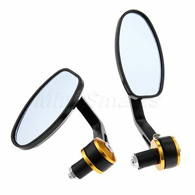 "2X Motorcycle Rear Mirrors Bar Ends For Fit 7/8"" 1"" Handlebars 22mm Handlebar"