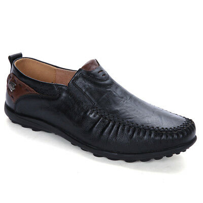 Men Comfortable Slip On Driving Loafers Moccasin Casual Flats Fashion Boat Shoes