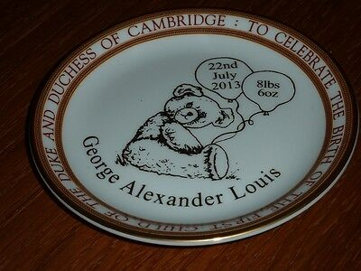 "Royal Baby George Alexander Louis Commemorative 4"" Mini Dish Ltd Edition New!!!"