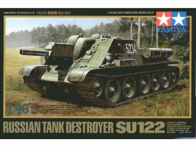 Tamiya 1/48 Military Miniatures Russian Tank Destroyer SU-122 Kit 32527