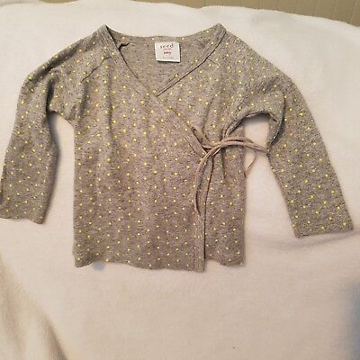 Baby Girl Seed Heritage gorgeous Wrap shirt Size 0