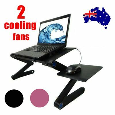 Laptop Computer Notebook Table Stand Desk Bed Tray Adjustable Folding Portable S
