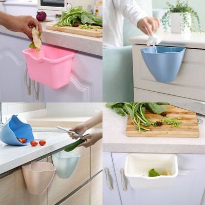 Plastic Hanging Trash Garbage Can Bin Kitchen Cabinet Door Rubbish Container UU