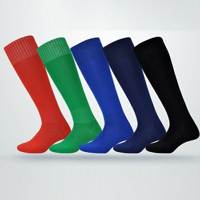 Mens Boys Sport Football Soccer Striped Long Socks Cotton Over Knee High Sock UU