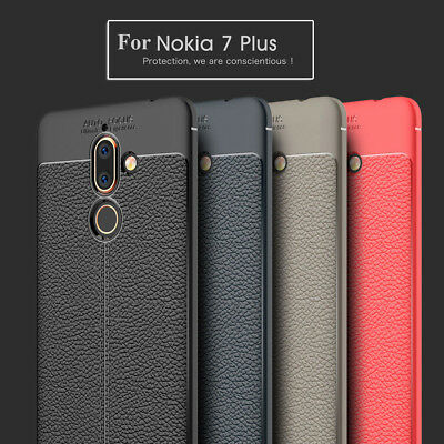 Leather Grain Case Ultra Thin Shockproof Full Protect Cover For Nokia 7 Plus 8