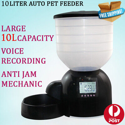 New 10 Liters Automatic Pet Feeder Auto Self Timer Food Dispenser Dog Cat Bowl