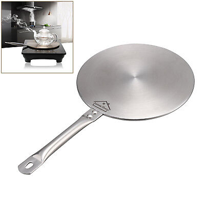 3 Size S/M/L Induction Cooktop Converter Disk Stainless Steel Plate Cookware AU