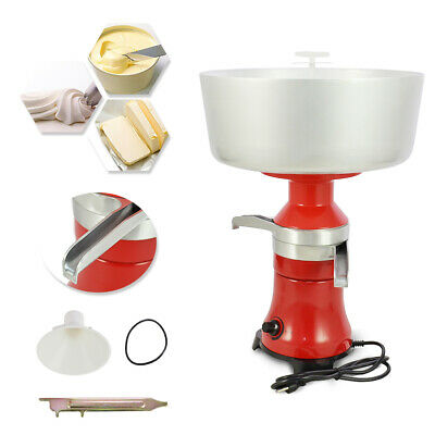 NEW Fresh Milk Cream Electric Centrifugal Separator Metal 110V 80-100L/h