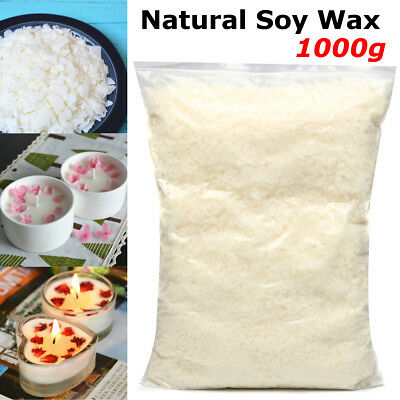 1kg Professional 100% Natural Soy Wax Flakes Candle Making Supplies Home DIY