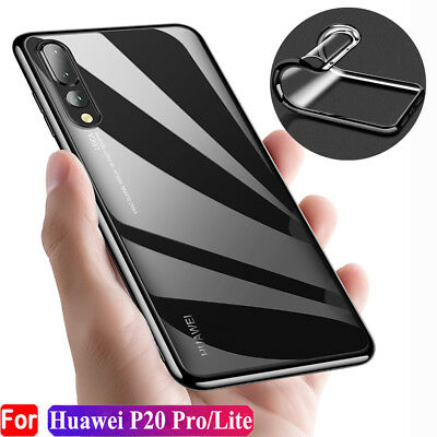 For Huawei P20 Pro Lite Shockproof Hybrid Rubber Soft TPU Slim Back Case Cover