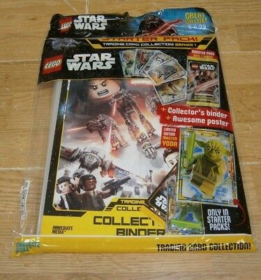 Lego Star Wars Series 1 Trading Cards Starter Pack Binder + Yoda Limited Edition