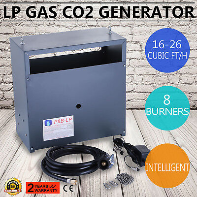 Hydroponic CO2 Generator 8 Burner 16-26 Cubic Ft/H High Precision Light Material