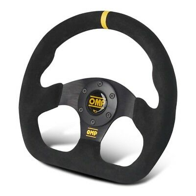 NEW 320MM Genuine Suede Leather Racing Sport Steering Wheel with OMP Horn Button