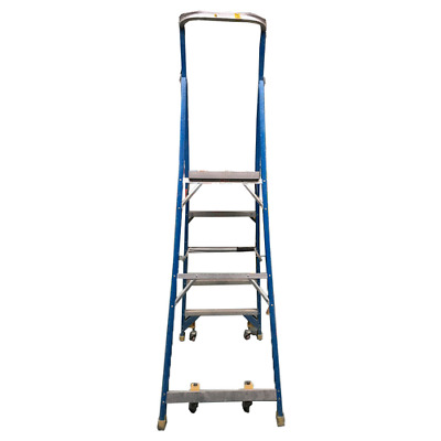 Platform Ladder 1.45 Meter Chief Industrial 5 Step with Casters