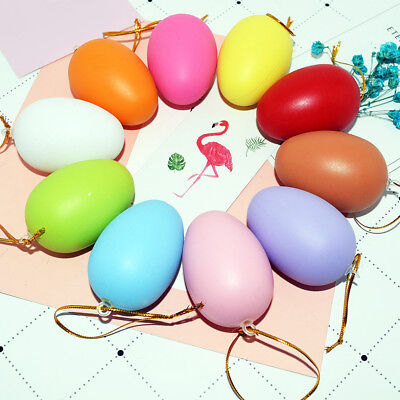 LC_ 10 Pcs Plastic Multi-Color Fake Easter Eggs DIY Tricky Toy Gift Party Deco