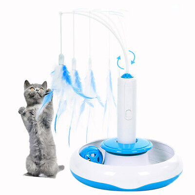 Pet Puppy Cat Electric Toys Teaser Interactive Cats Rotating Play Funny Toy